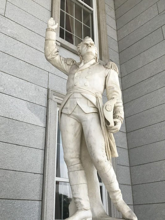 Statue at State House