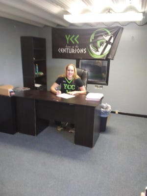 2020 Swink graduate Morgan Gribble signed to play basketball with Yellowstone Christian College in Billings, Mont., Aug. 1.