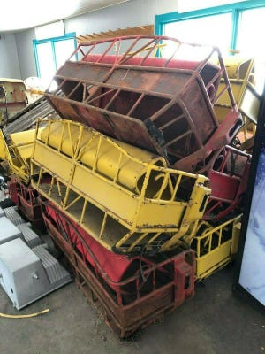 This is part of a Ferris wheel for sale on eBay out of Montana. It was designed from plans by A.K. Brill of Peoria.