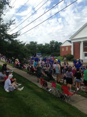 Walton residents watch as the Old Fashion Day parade passes on Sept. 6.