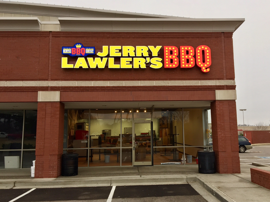 A barbecue shop branded with the famous Memphis wrestler