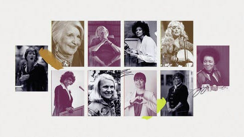 Tennessee's women of the century include, from top left, Pat Summitt, Marilou Awiakta, Martha Craig Daugherty, Wilma Rudolph, Dolly Parton and Maxine Smith, and, bottom, Lois DeBerry, Margaret Rhea Seddon, Rena Soto and Beverly Robertson.