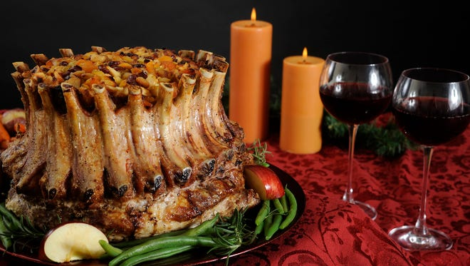 Crown Roast of Pork with fruit stuffing