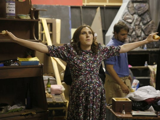 """Madison Ballard portrays Kate in the Theater Ensemble Arts production of """"Drinking Habits 2: Caught in the Act."""""""