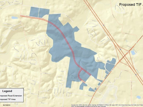 Proposed tax increment financing district for Stoney
