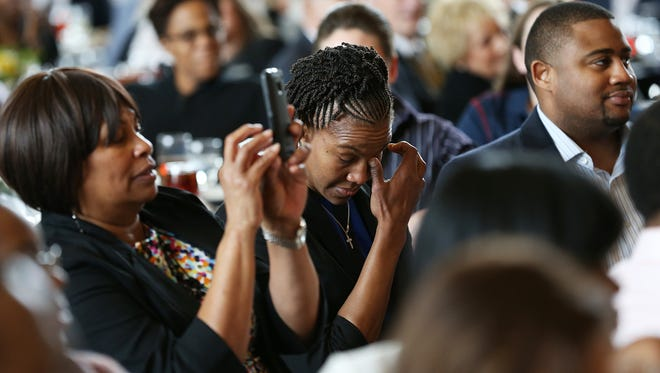 Tamika Catchings teared up Tuesday in response to a video message from her favorite NBA player, Alonzo Mourning, during a luncheon honoring her legacy. On May 14, she starts her final Fever season.