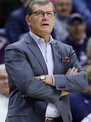 Connecticut women's basketball coach Geno Auriemma.