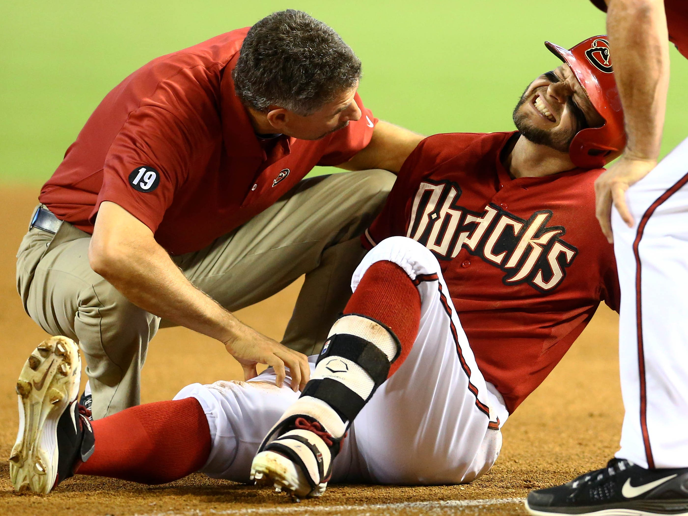 Aug. 12: Arizona Diamondbacks outfielder Cody Ross is on the 60-day disabled list with a fractured right hip.