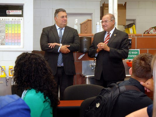 Freeholders join students at mini academy opening PHOTO CAPTION