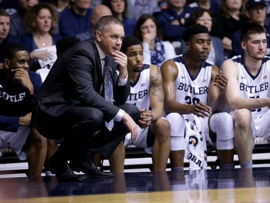 Butler coach Chris Holtmann guided the Bulldogs to