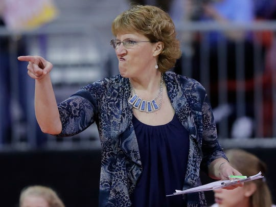 Lake Country Lutheran coach Janet Bahr led her team to a 14th-place finish at the Homestead/St. Thomas More Joust on Friday and Saturday.