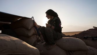 A Kurdish fighter in northeastern Syria.