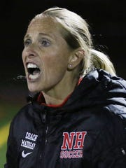 Northern Highlands coach Tara Madigan yells out instructions