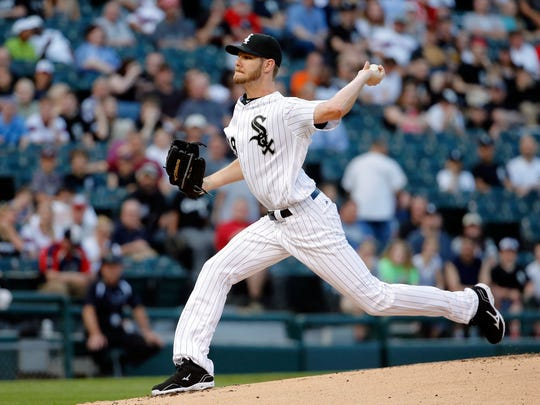 Chris Sale of the Chicago White Sox pitches against the Cleveland Indians during the first inning at U.S. Cellular Field on May 24, 2016 in Chicago, Illinois.
