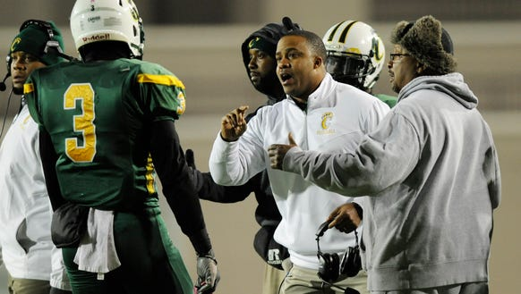 Carver coach Billy Gresham against Hillcrest-Tuscaloosa