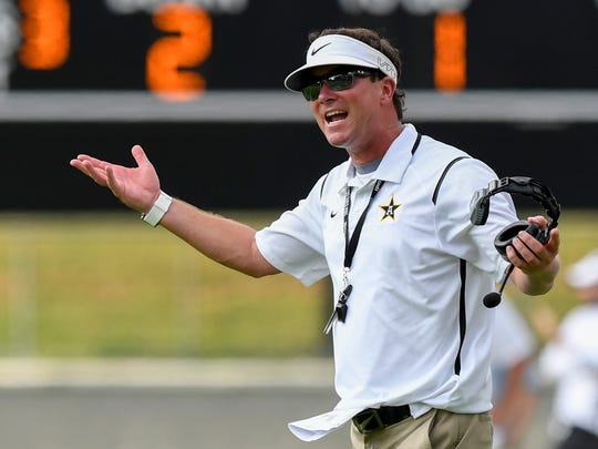 Autauga Academy coach Bobby Carr during the SECIS Kickoff Classic at Cramton Bowl in Montgomery, Ala. on Saturday August 12, 2017.