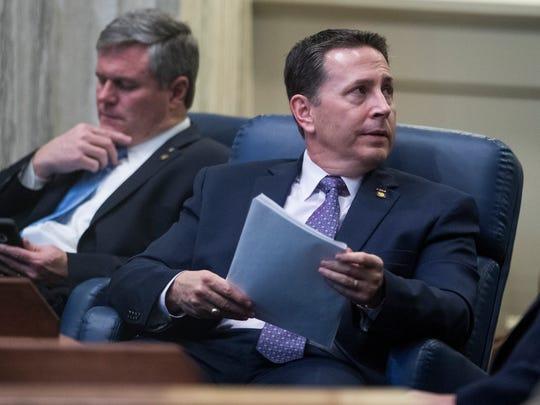 Sen. Phil Williams on the senate floor at the Alabama