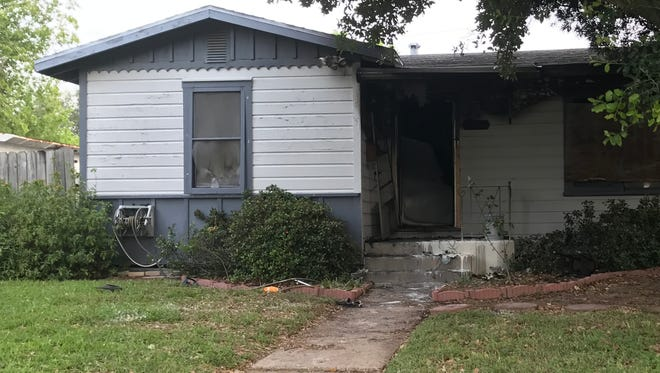A house in the 1600 block of Devon Street caught fire after midnight Wednesday, May 10, 2017. One man was taken to Christus Spohn Hospital Shoreline with severe burn injuries, officials said.