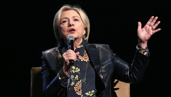 Hillary Clinton in Los Angeles on Dec. 17, 2017.
