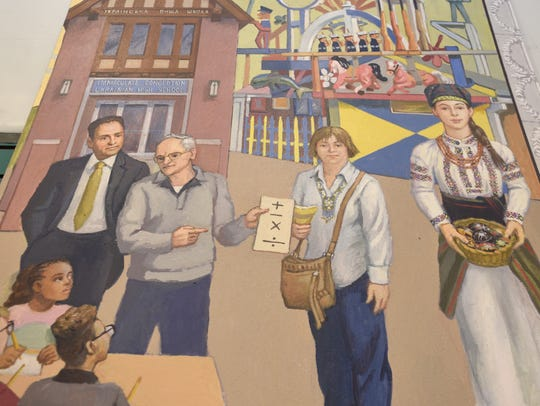 A section of the Ukrainian American mural part of the