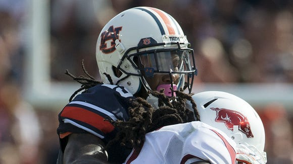 Auburn defensive back Trovon Reed had his first interception of the season on Saturday