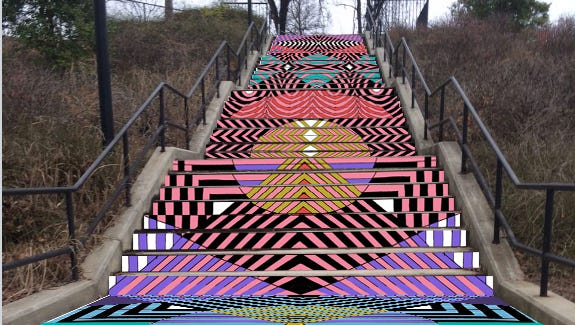 The 11th Street stairs project will be completed by Baltimore-based Jessie Unterhalter and Katey Truhn.
