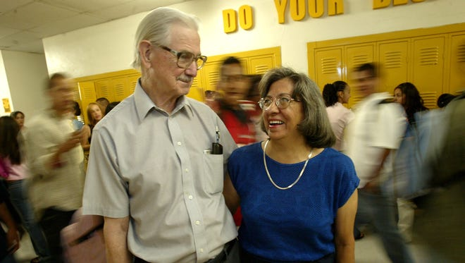 Students said they enjoyed the teaching methods used by Elroy and Phoebe Bode throughout the years at Austin High School. Elroy Bode died Sunday at his home in El Paso.