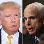 A public feud: Donald Trump vs. John McCain