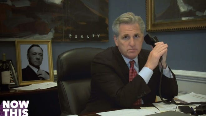 Rep. Kevin McCarthy (R- Calif.), majority whip, delivers a 'House of Cards' line for Now This News.