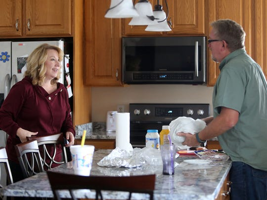 Lisa and Mark Vinson chat at home in West Jordan on Thursday, Nov. 2, 2017. Their son Brandon Vinson is in recovery from a heroin addiction.