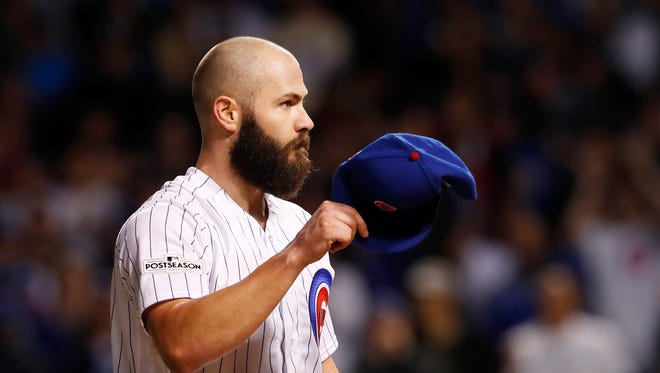 Jake Arrieta went 14-10 with a 3.53 ERA in 30 starts for the Cubs last season.