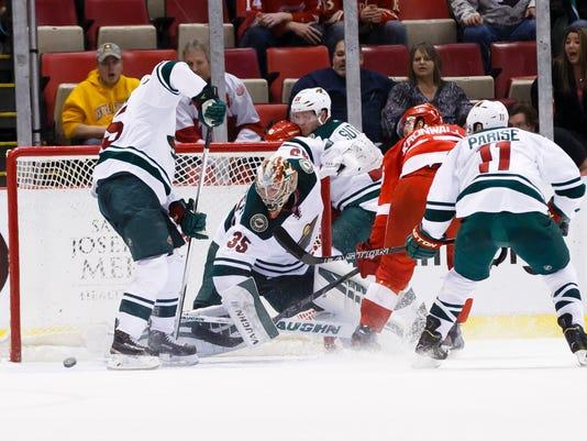 USP NHL: MINNESOTA WILD AT DETROIT RED WINGS S HKN USA MI
