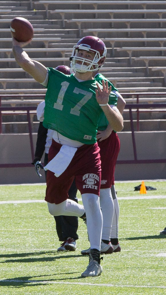 New Mexico State quarterback Tyler Rogers was granted a medical waiver for breaking his left thumb against New Mexico in 2015.
