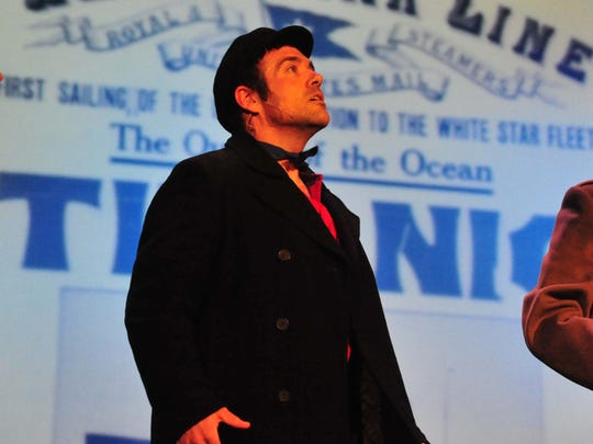 Thomas Guzzi Jr. rehearses during a performance of 'Titanic' in 2010. Guzzi, a Pitman resident, worked as a teacher and drama club adviser at Vineland's Winslow Elementary. He has been suspended without pay after being charged Friday with possession and distribution of child pornography.