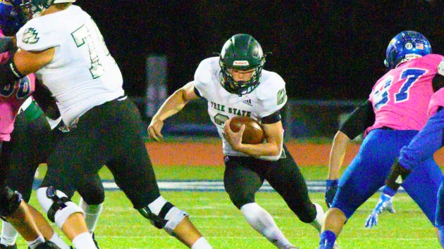 Tyler Bowden ran for 1,859 yards and 26 touchdowns last year for Free State. Bowden transferred to Tonganoxie late in the summer and will be an impact player for the Chieftains this year.