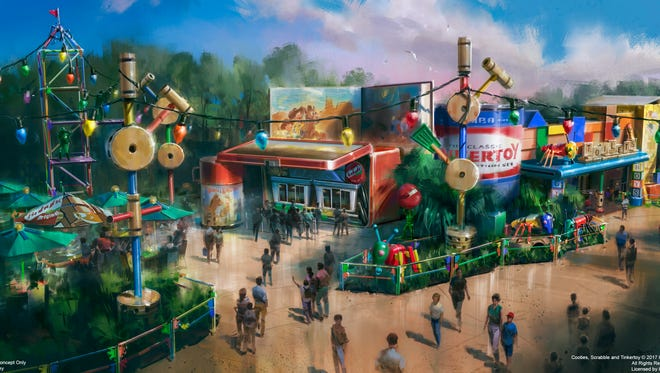 Toy Story Land rendering for the summer of 2018.