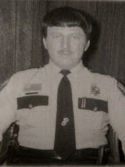 Dan Hintz is shown as he served as the police chief in Plover in 1975.