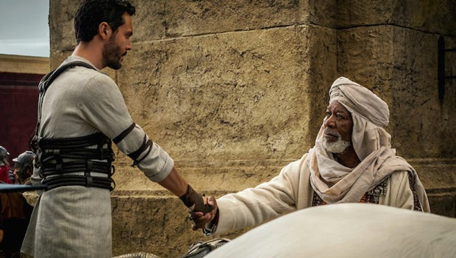 """Morgan Freeman and Jack Huston in """"Ben-Hur."""" The movie is playing at Regal West Manchester Stadium 13, Frank Theatres Queensgate Stadium 13 and R/C Hanover Movies."""