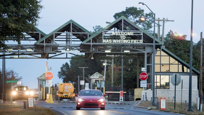 The entrance to Whiting Field in Milton is pictured Nov. 22, 2016.
