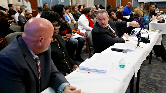 The York City School District holds a special meeting regarding the future of Helen Thackston Charter School at the Administration Building in York City, Feb. 13, 2017. Dawn J. Sagert photo