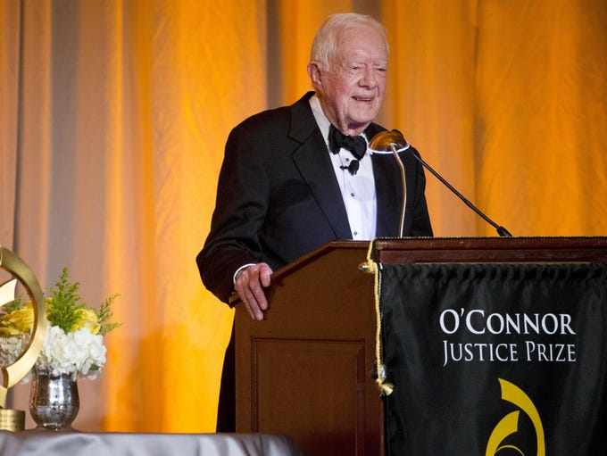 Former President Jimmy Carter is honored with the O'Connor