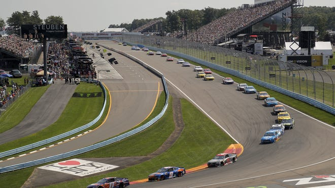 """Three months after its opening day was canceled by the coronavirus pandemic, Watkins Glen International is hosting car clubs again as NASCAR weekend looms in mid-August. """"Everybody is excited about getting back in the saddle. I know we are,"""" track president Michael Printup said."""