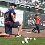 Red Sox sluggers David Ortiz, Hanley Ramirez do the ladder drill