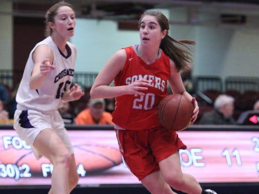 Somers vs Monroe-Woodbury girls Slam Dunk basketball