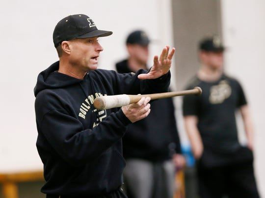Purdue University baseball head coach Mark Wasikowski