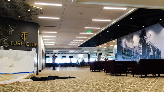 Churchill Downs' renovated Turf Club features open spaces and larger windows.