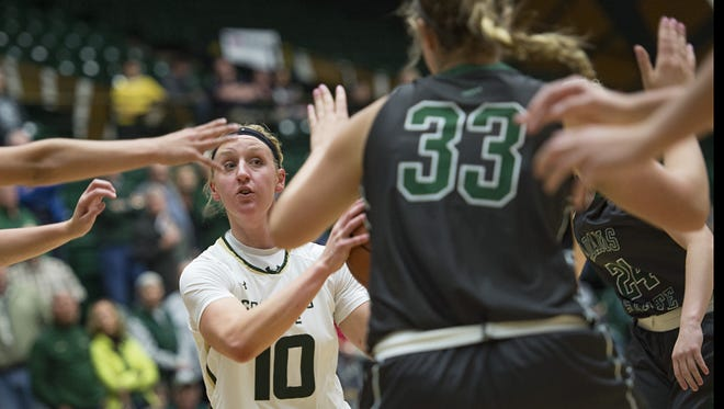CSU guard Hannah Tvrdy is third on the team in scoring at 8.8 points per game. The Rams play at No. 12 Oklahoma on Sunday.