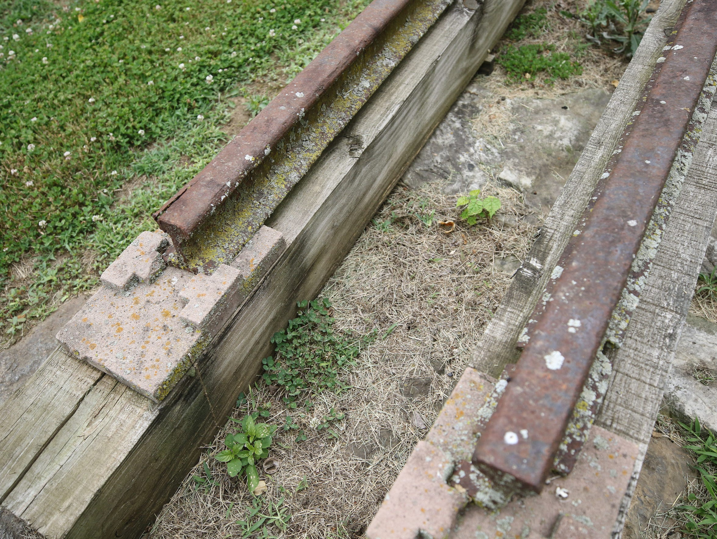 What's left of the rails that were part of the inclined
