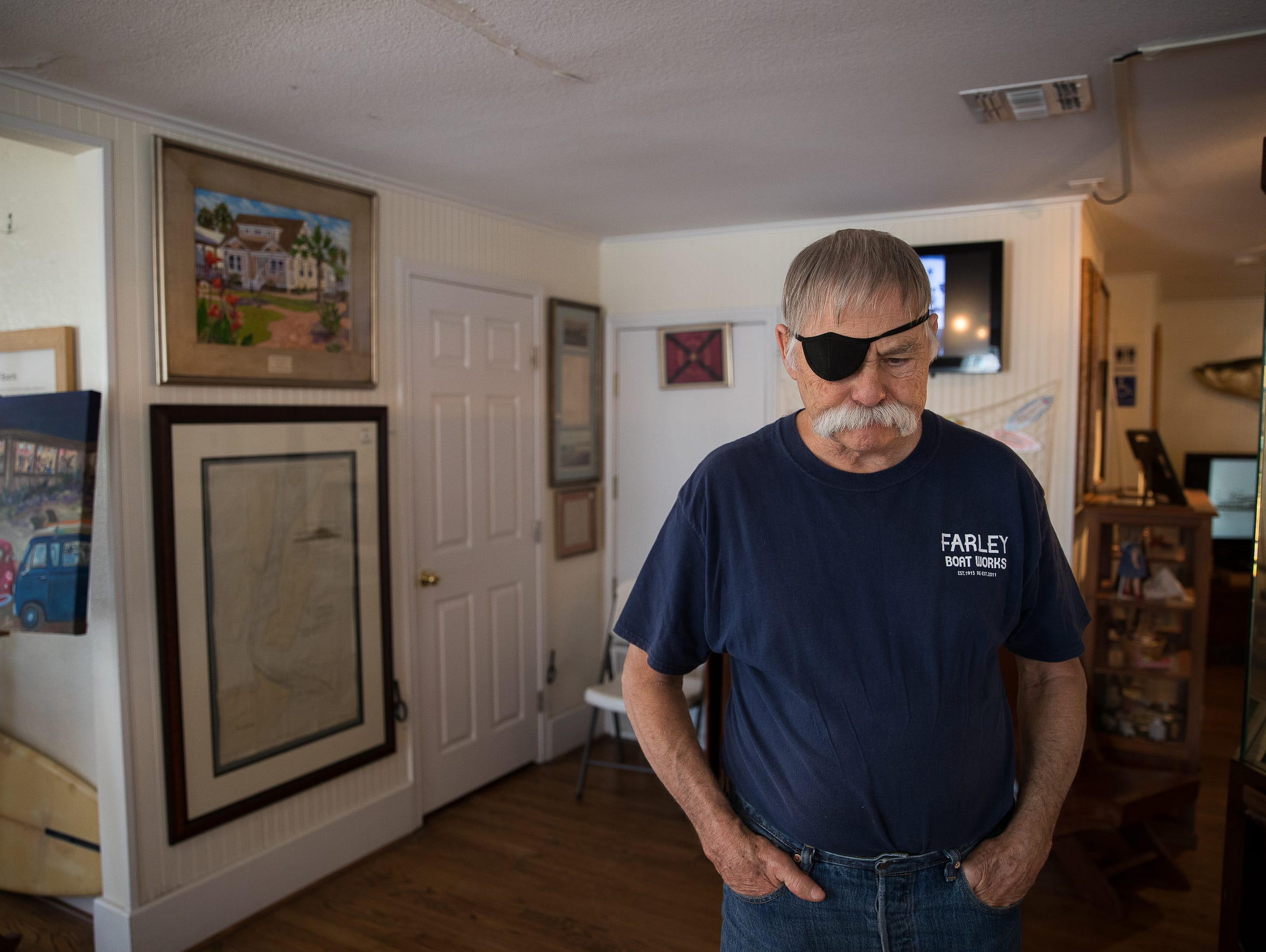 Old Town Committee member Rick Pratt, pictured in the Port Aransas Museum, has described the aftermath of Hurricane Harvey as an important point in time where the city could see mass change. The committee aims to preserve the historic elements of Old Town.