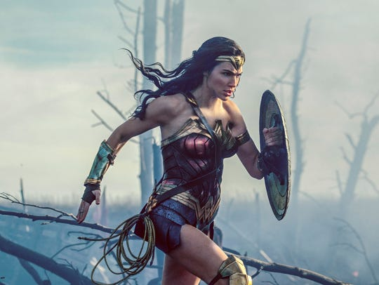 "Gal Gadot in a scene from ""Wonder Woman,"" in theaters"